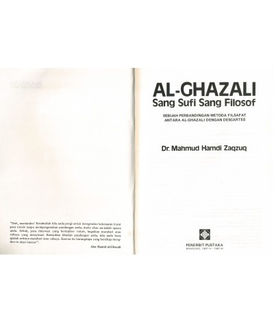 Al-Ghazali Sang Sufi Sang Filosof