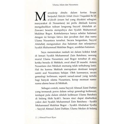 Ulama, Islam dan Nusantara