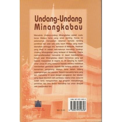Undang-undang Minangkabau: Wacana Intelektual dan Warna Ideologi