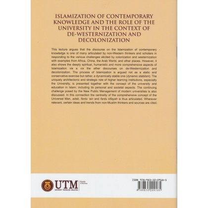 Islamization of Contemporary Knowledge and the Role of the University in the Context of De-Westernization